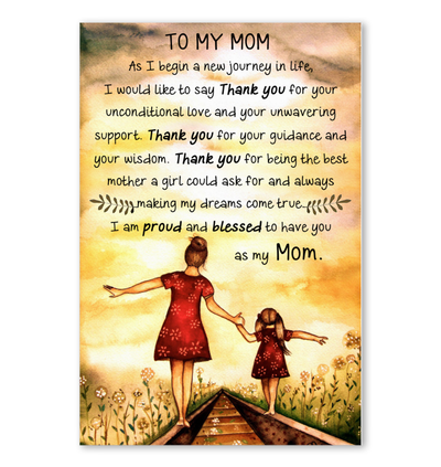 MEANINGFUL GIFT FOR YOUR MOM - FAMH, Gifts For Mom, Gift For Mother, Poster vertical, Special Gift For Her, All Size poster