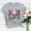 Mom Life Pink Lip Leopard Shirt Gift For Mom