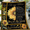 G2 Daughter To Mom You Are Appreciated Sunflower Blanket
