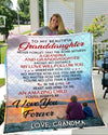 The Bond Between Grandma And Granddaughter 50x60 Blanket Gift For Granddaughter