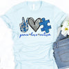 Peace love autism autism awareness shirt