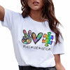 G2-Peace love autism autism awareness shirt