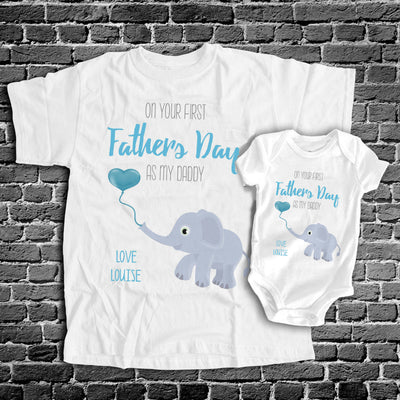 Personalized 1st Father's Day As My Daddy Matching Shirts Dad And Baby Gift