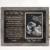 Personalized Our First Fathers Day Sonogram Poster Canvas - Custom Posters