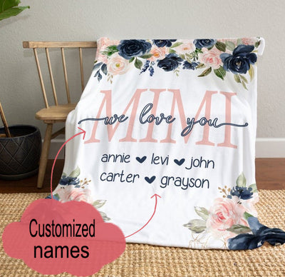 Personalized We Love You Blanket Gift For Mom