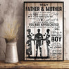 I Will Always Be Your Little Boy Poster Gift For Mom And Dad From Son - Gift For Dad From Son