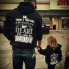 Daughter Stole My Heart Matching Hoodie Shirts For Dad - Father & Daughter Shirt