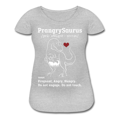 Famt - PrangrySaurus - Women's Maternity T-Shirt - heather gray