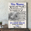 Personalized I Will Love You Until I Die Canvas Gift For Him