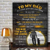 Daughter to dad - To my dad you are the man the myth the legend poster - GST
