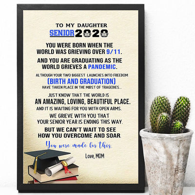 G1 Personalized senior 2020 poster canvas Graduation gift
