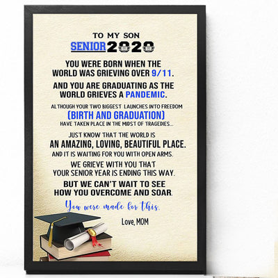 G1 Personalized senior 2020 poster canvas - Graduation gift Gsge