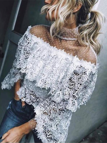 Autumn And Winter Fashion Sexy Lace Top Shirt