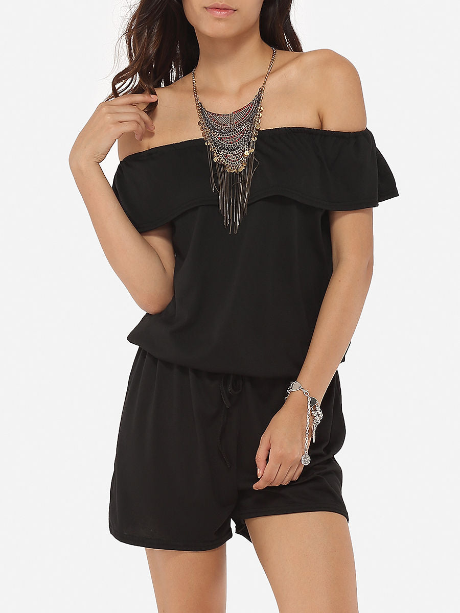 Falbala Loose Fitting Dacron Rompers