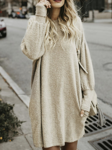 Sweater Long Dress Bat Shirt
