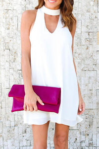 Cutout  Back Hole  Sleeveless Casual Dresses