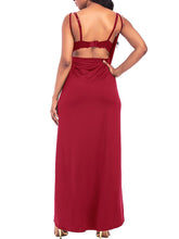 Spaghetti Strap High Slit Two Way Maxi Dress