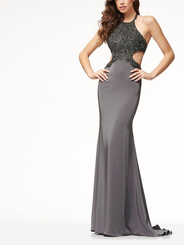 High End Halter Evening Dress