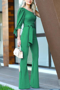 Sexy One Shoulder Long Sleeves Jumpsuits