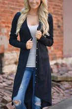 V-Neck  Plain  Long Sleeve Cardigans