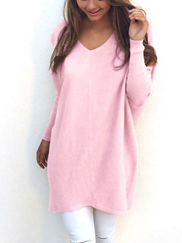 Fashionable V-Neck Long Sleeved  Thin  Sweatshirt