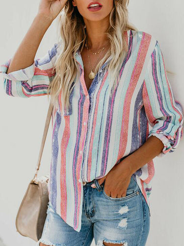 Colorful Striped Long Sleeve Shirt