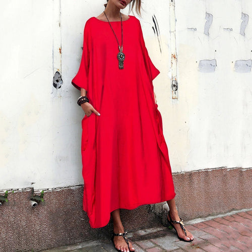 Casual Cotton And Linen Loose Maxi Dress Jumpsuits