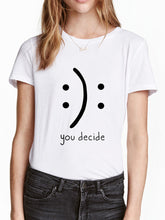 Round Neck Letter Printed Short Sleeve T-shirt