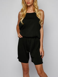 Solid Color Slim, Sleeveless Jumpsuit