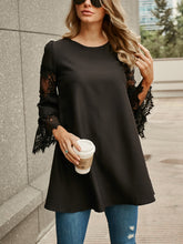 Round Neck Hollow Long Sleeve Dress