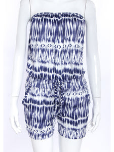 Printed Tube Top Jumpsuit