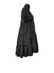 Black Tiered Smock Dress