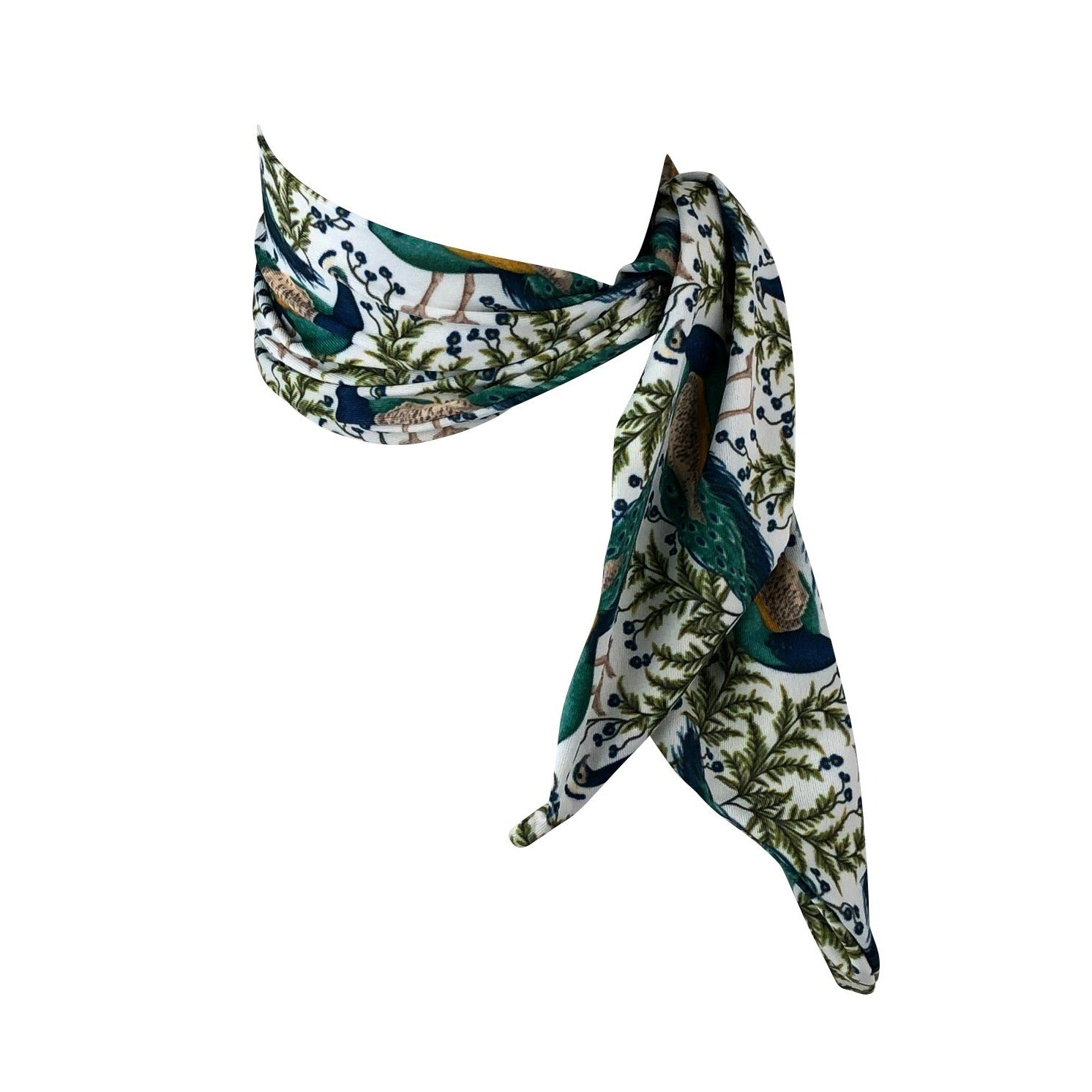 Emerald Peacocks Multifunction Cooling Scarf