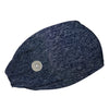 Heather Navy Headband with Buttons