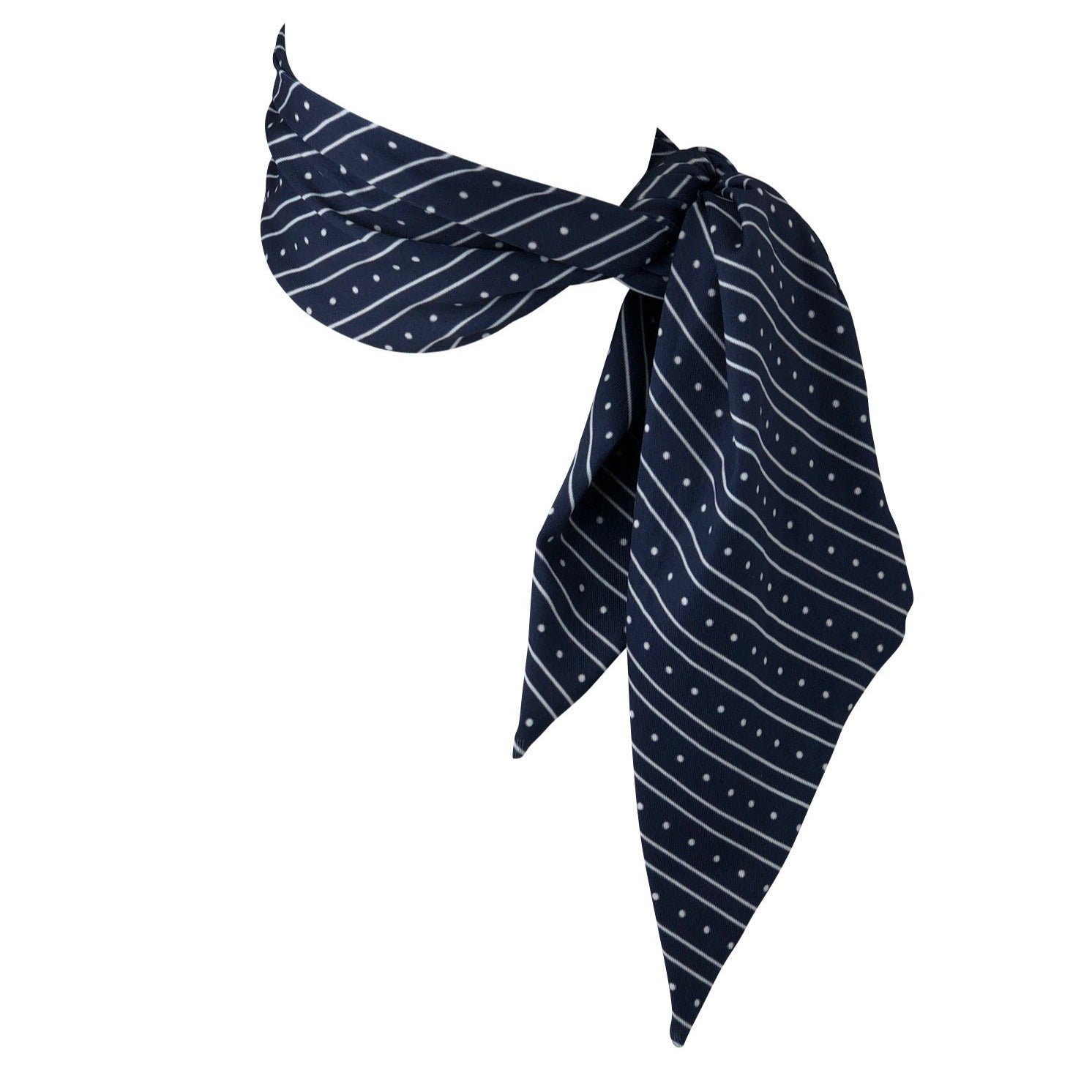 Navy Stripes Polka Dots Multifunction Cooling Scarf