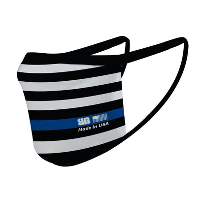 Blue Line Flag Mask - Made in USA