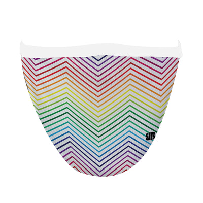 Rainbow Chevron Mask - Made in USA