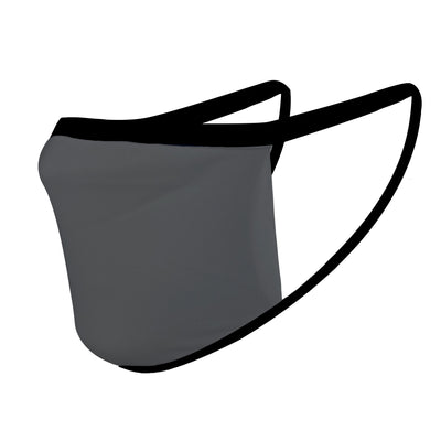Solid Gray with Black Straps Mask - Made in USA