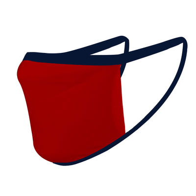 Solid Red with Navy Straps Mask - Made in USA