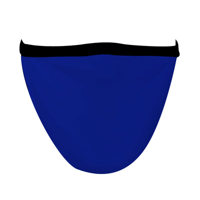 XL Solid Royal Mask with Black Straps - Made in USA