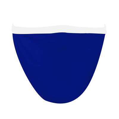 Solid Royal Blue with White Straps Mask - Made in USA