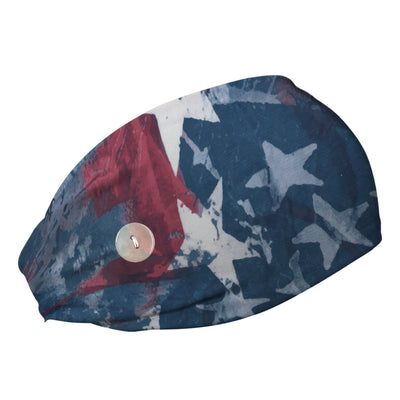 Star Spangled Cooling Headband with Buttons