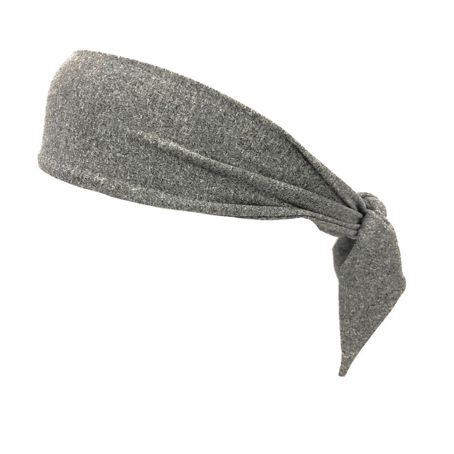 Tie Headband Heather Gray