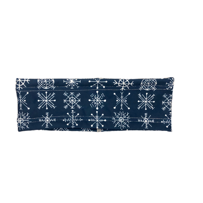 Navy Snowflake Fleece Headband