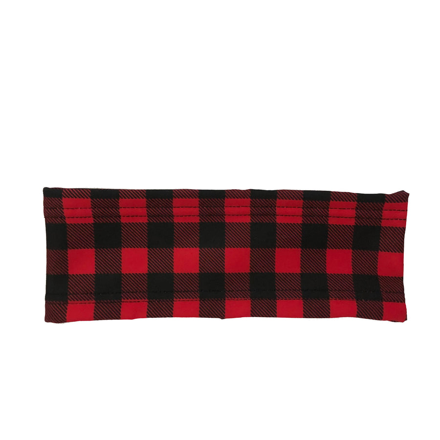 Red and Black Buffalo Plaid Fleece Headband