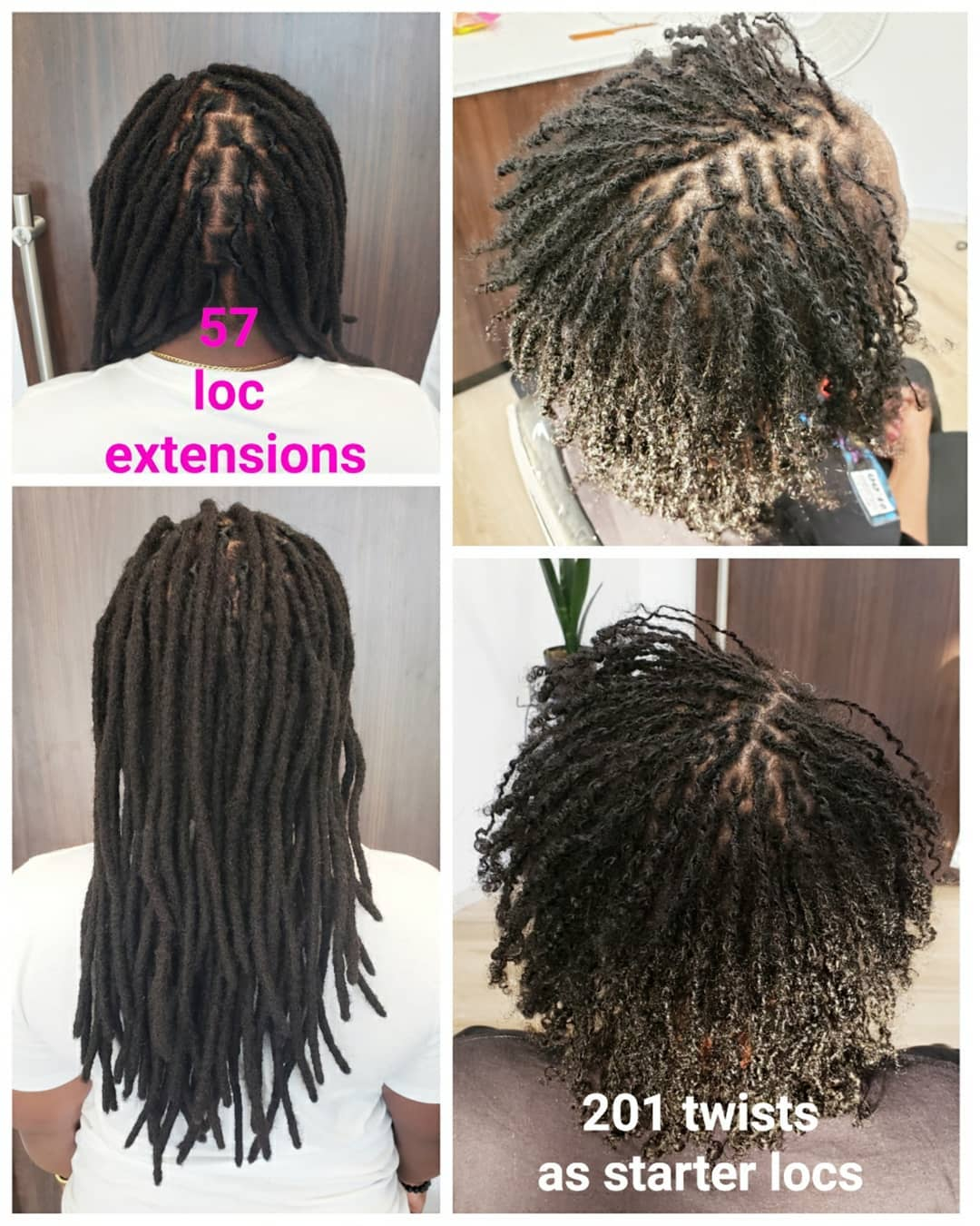The fullest parting styles for Loc Extensions!