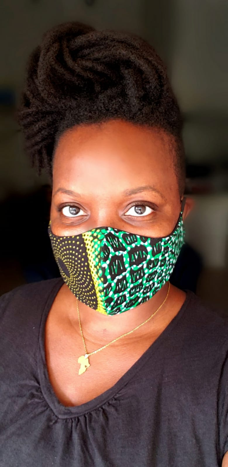 African Print mask Style 3