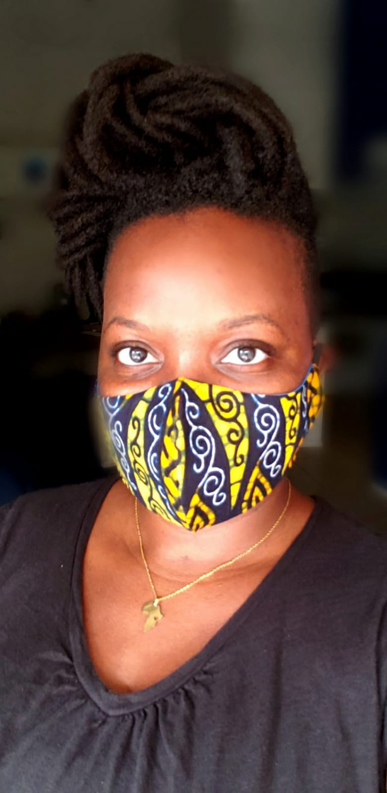African Print mask Style 2