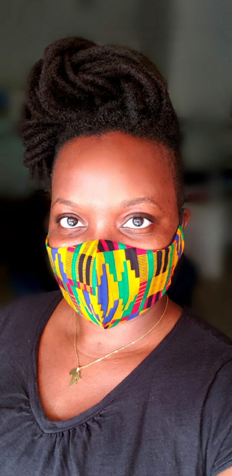 African Print mask Style 1