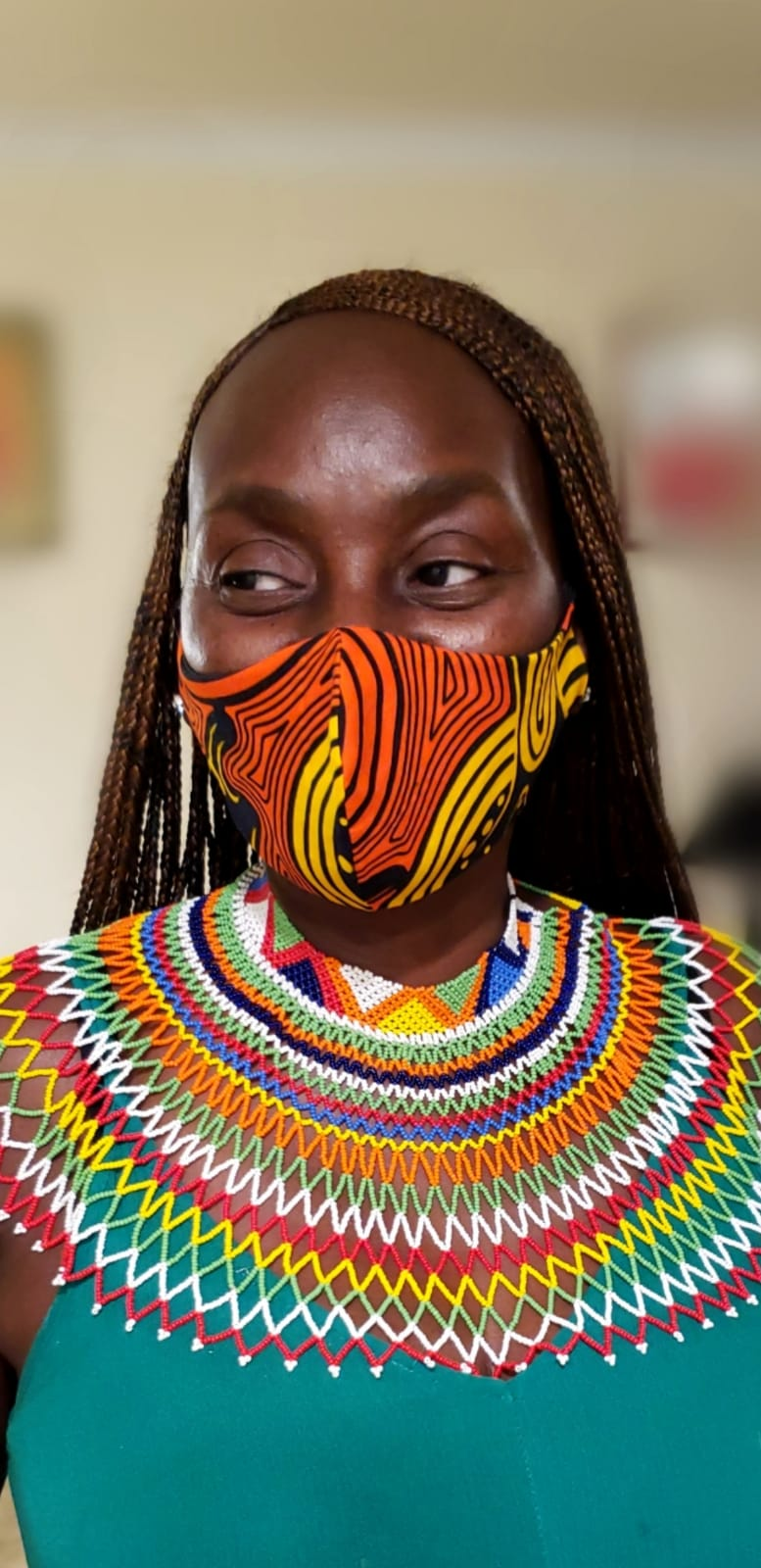African Print mask Style 8
